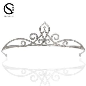 TR15033 Hot sale beauty wedding tiaras accessories cheap pageant hair crowns
