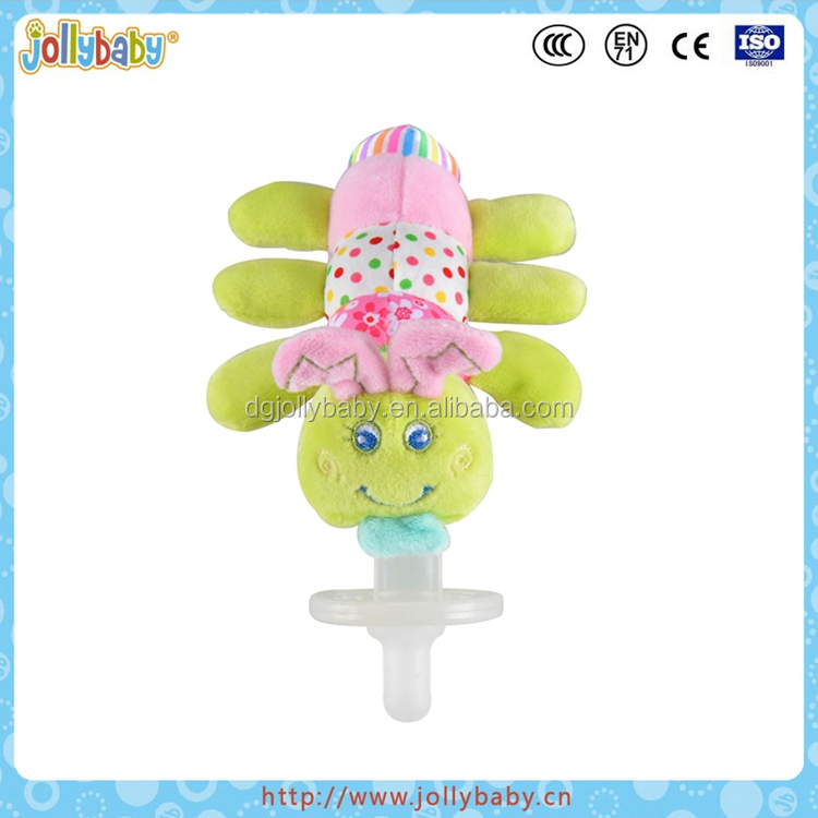 Dongguan Jollybaby Cute Plush Mini Animals Baby Pacifier Toy