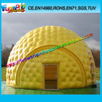 2015 High Quality Yellow Dome Inflatable Advertising Tent For Sale