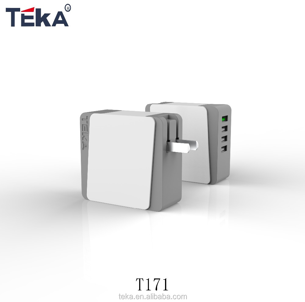 Shenzhen Folding plug Europe plug wall charger QC3.0 CE GS ROHS approved usb travel charger