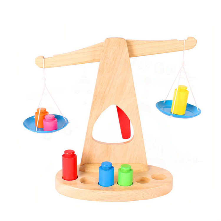 High quality educational kids wooden balance game scale toys for sale