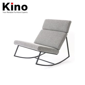 Square Metal Frame Chair Relaxing Comfortable Modern Rocking Outdoor Sofa  Chair