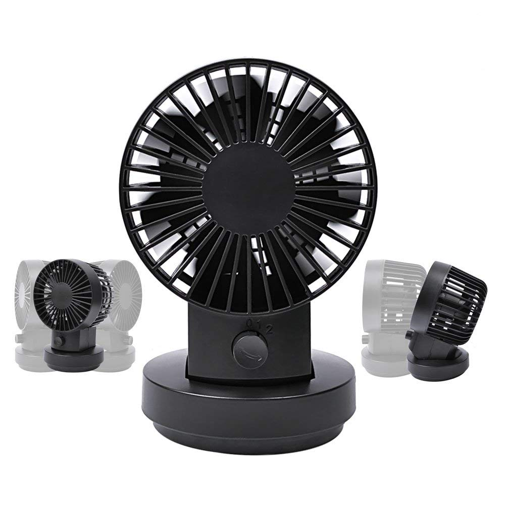 Mini USB Personal Table Desk FanPortable Small Quiet Fan Five Blades Simulate Natural Wind White