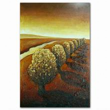 Hand painted abstract desert landscape oil painting on canvas african style art