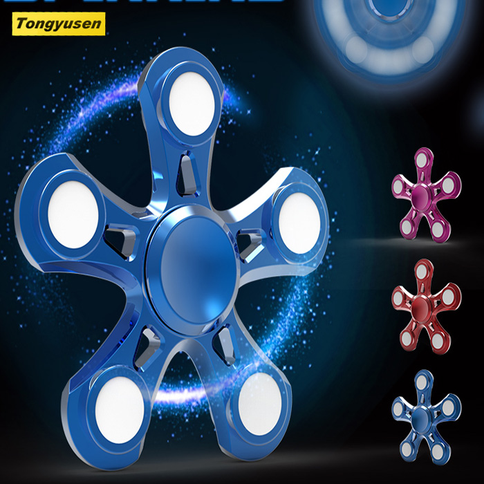 Factory supply durable 606 bearing fidget spinner toy metal finger spinner for adults kids children focus stress relief