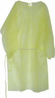 Yellow Reusable Waterproof Isolation Gowns