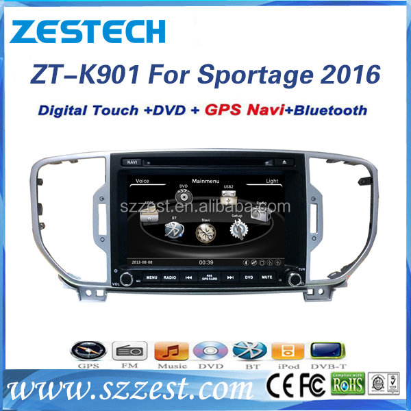 Car multimedia DVD player GPS Navi FOR KIA Sportage 2016 car radio stereo WIFI 3G RDS