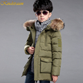 Kindstraum 2016 New Kids Boys Hooded Parka Duck Down Coat Fashion Outwear Sports Jacket Warm Winter