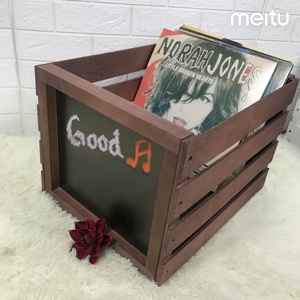 Decorative Storage Wooden Crates Perfect for record