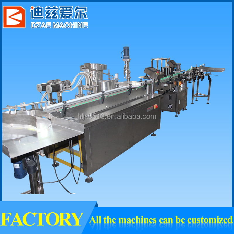 Best quality bottle washing filling capping machine, glass jar capping machine,small bottle filling and capping machine