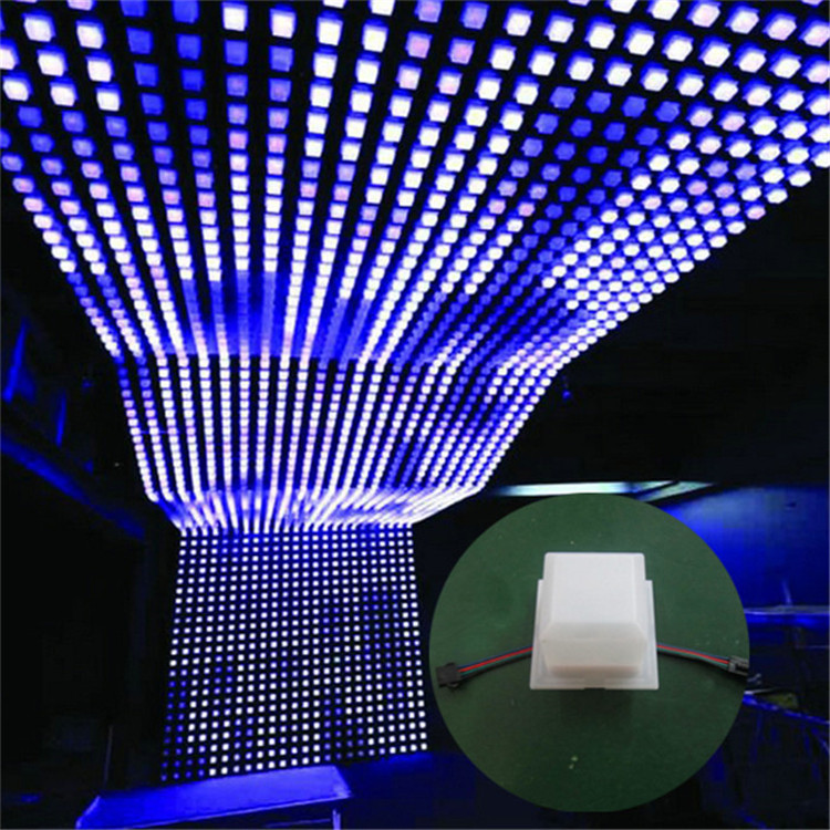 P125 Rgb Matrix Led Dot Lamp For Street Scenery Light Decoration Dvi Control Interactive Wall Pack Product On