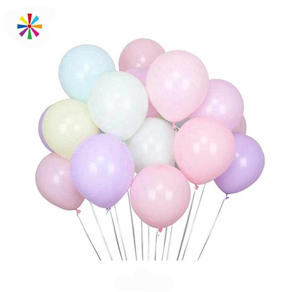 Balonlar Pastel gökkuşağı renkli Macarons renk ucuz 12 inç lateks helyum balonları