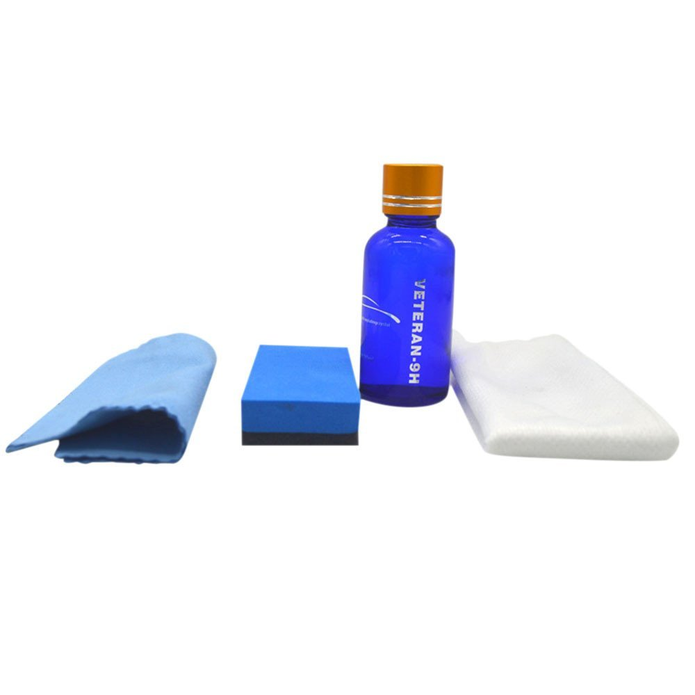9H Hardness Car Liquid Ceramic Coat Car Polish Set, Degreasing Agent & Plating Solution & Plated Crystal Cotton & Plated Crystal Cloth & Nonwoven Fabric Gessppo