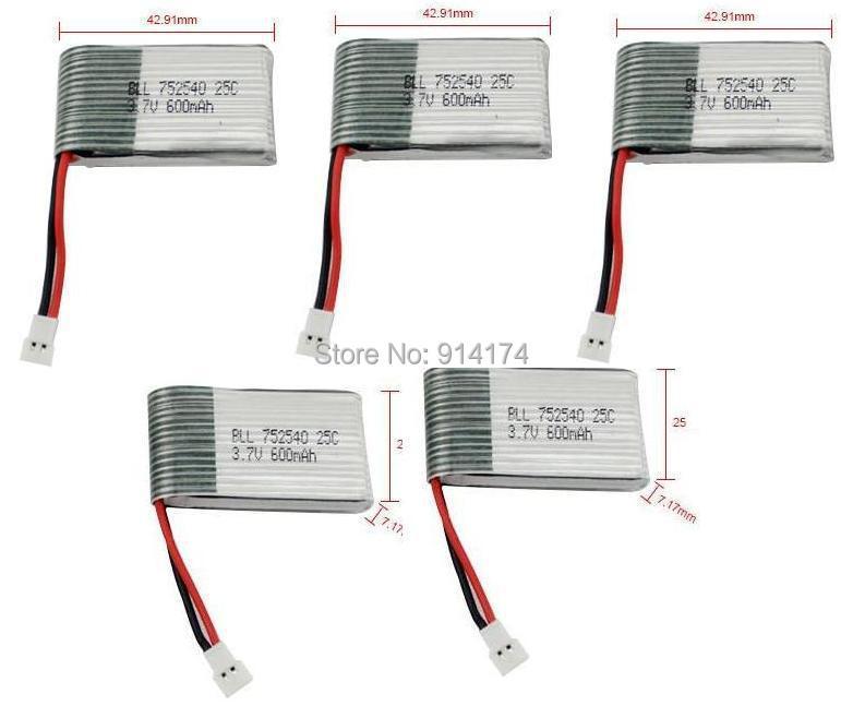 syma x5c x5 X5A 2.4G RC quadcopter upgrade battery 3.7v 600mah Li-po battery  free shipping