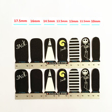 Black White JACK Skull Nail Arts Nail Sticker Waterproof Nail Decal Sticker Gel Polish French Manicure