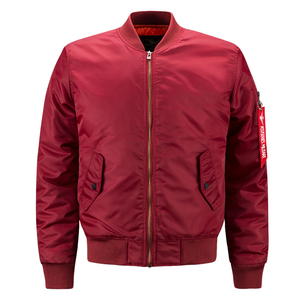 Wholesale Custom Men Blank Plain Nylon Bomber Jacket