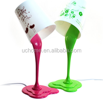 Uchome Table Lamp Cute Creative Poured Paint Bucket Lamp - Buy ...