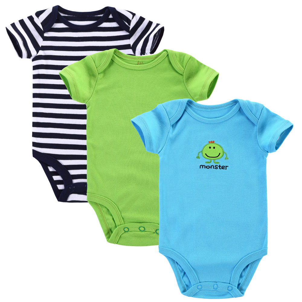 20ed79bf5008e Get Quotations · 3pcs/lot Baby Clothes 2015 Summer Newborn Baby Girls Boys  Clothes 100% Cotton Short