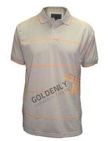 Men's yarn dye stripe 100% cotton polo shirt