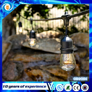 Outdoor Incandescent 11W Edison S14 Bulb Light 15pcs Hanging Sockets Commercial String Lights Waterproof Marriage Decoration