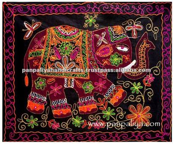 Elephant Wall Hanging elephant handmade embroidered wall hanging tapestry - buy wall