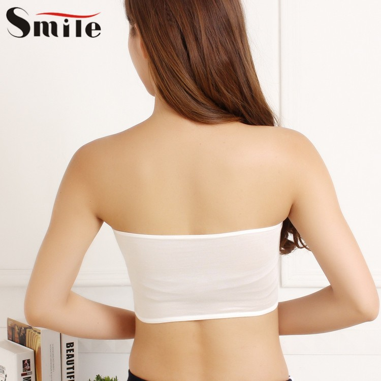 57b203421a 2019 Wholesale Womens Strap Chest Wrap Solid Sports Bra Tube Crop ...