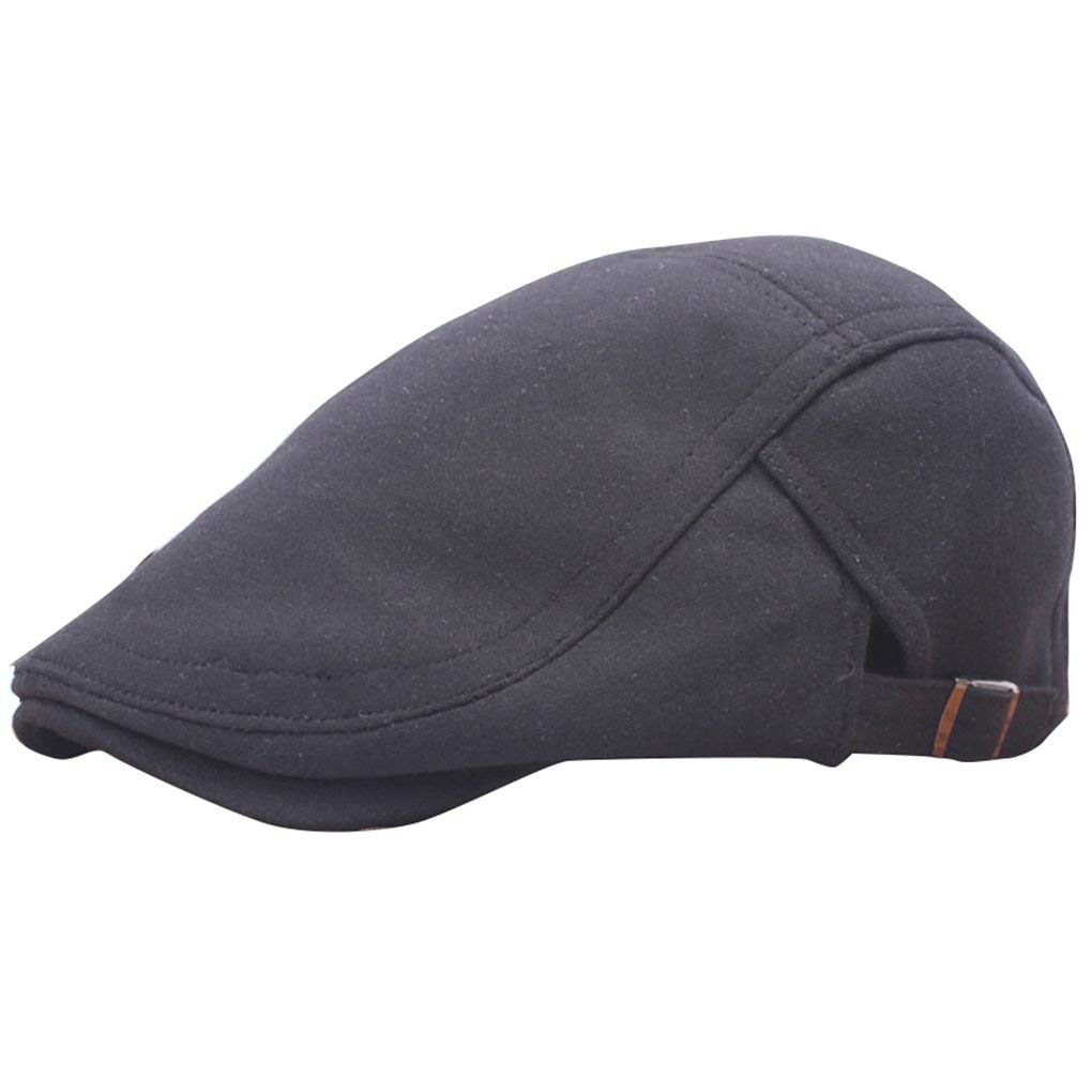a5df5066f7a Get Quotations · Harmily Winter Unisex Beret Duckbill Ivy Cap Golf Driving  Flat Cabbie Newsboy Hat Xmas
