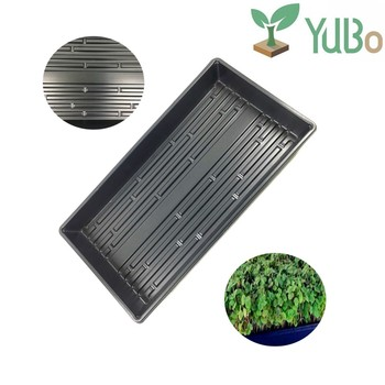 New Whole Top Quality Plastic Hydroponics Fodder Growing Trays Without Holes