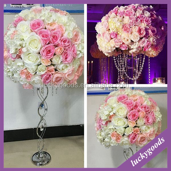 Whole Wedding Plastic Artificial Flower Arrangements In Vase Or Pillar