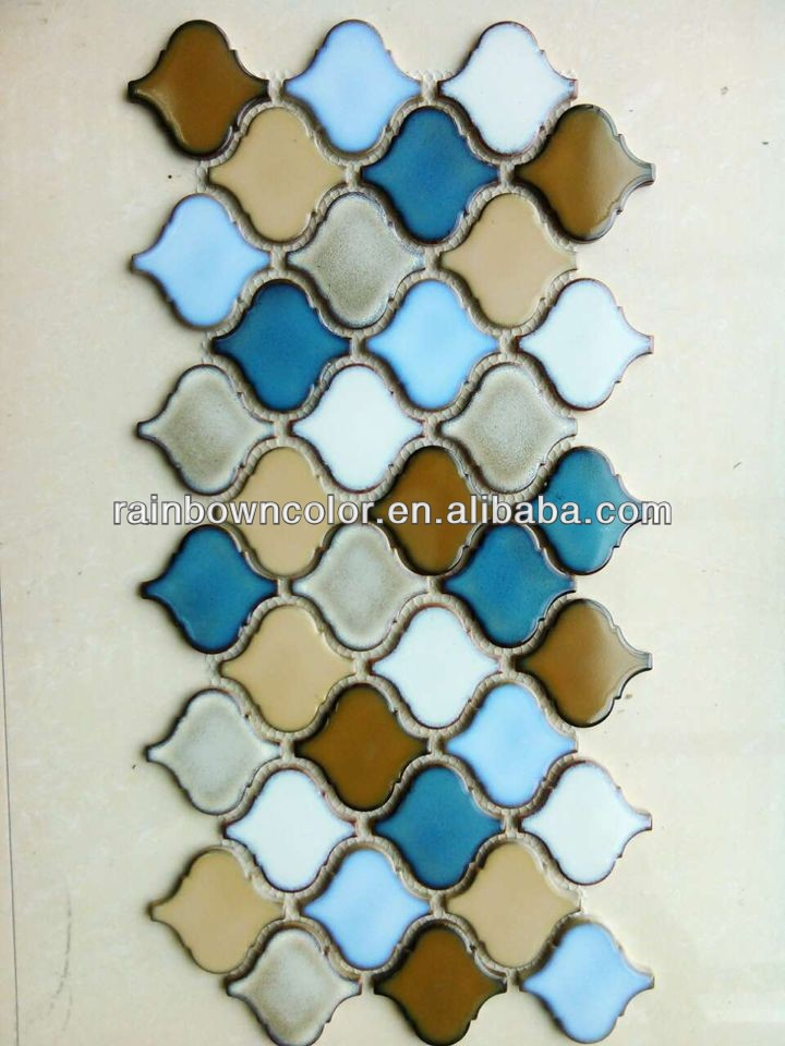 glasierte keramische mosaik fliesen f r arabesque laterne form pozellan produkt id 1833014216. Black Bedroom Furniture Sets. Home Design Ideas