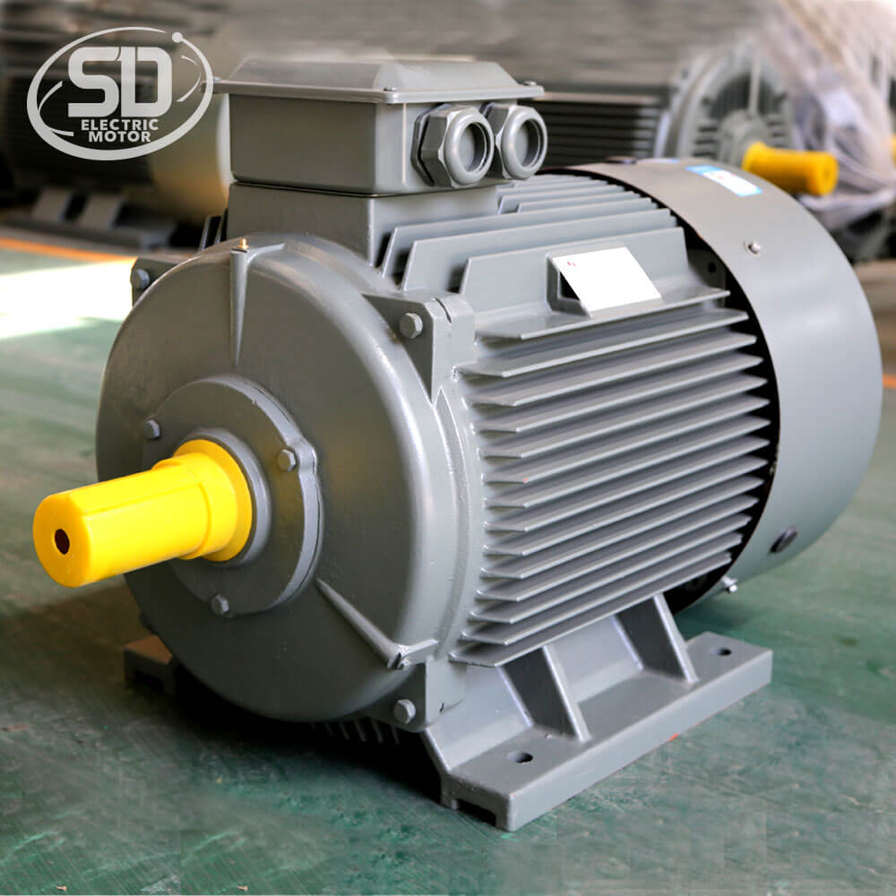 1500rpm low vibration 90kw 125hp 3 phase ac induction motor