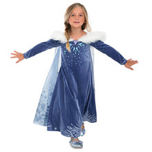 Frozen Kids Girl Cosplay Floor Prom Princess Anna Dresses BX01