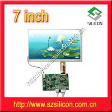 7 inch analog lcd panel driver board with 2way AV/remote control board