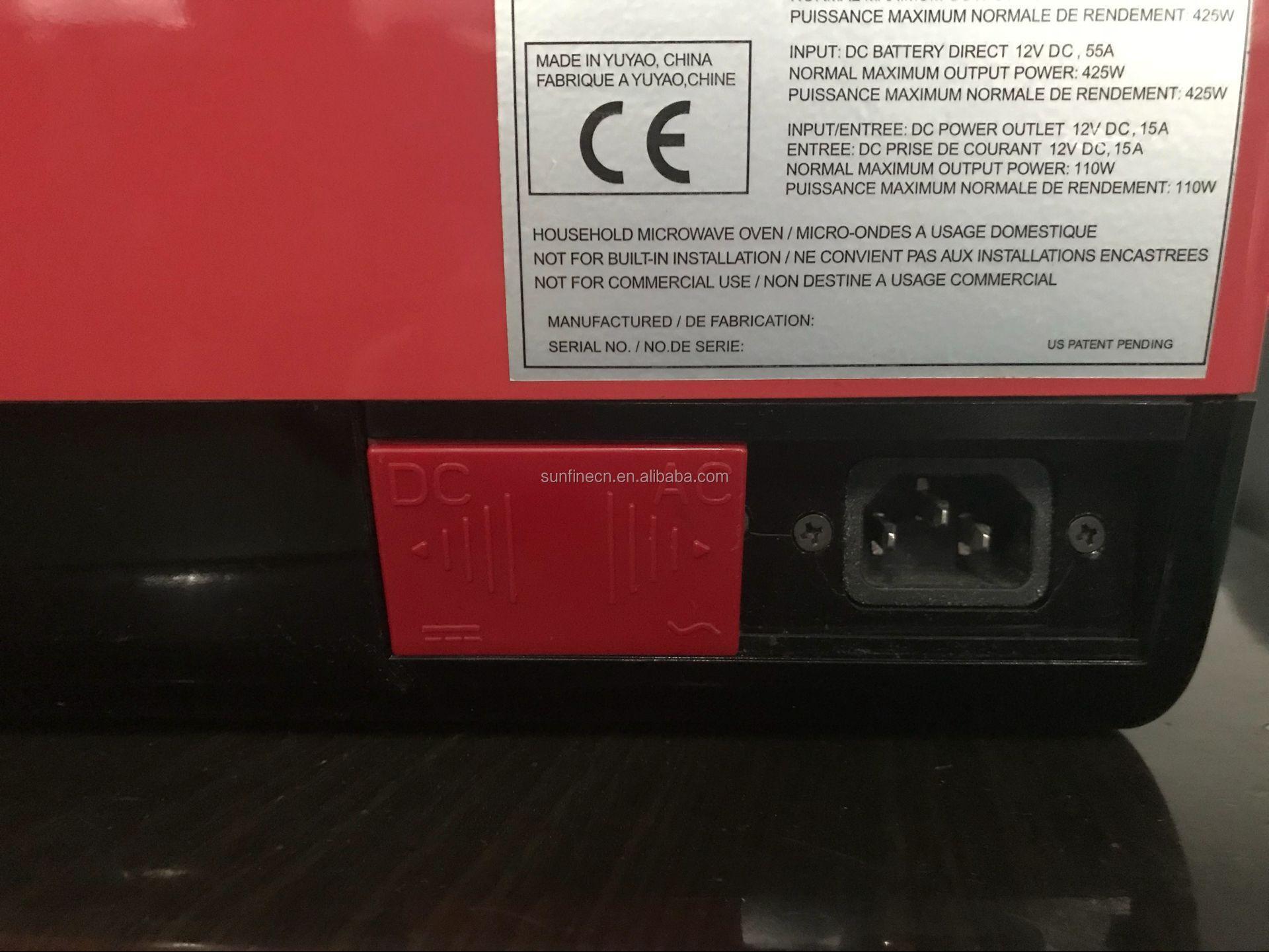 7l Portable Car Boat Caravan Dc 12v 24v Ac220v Microwave Oven