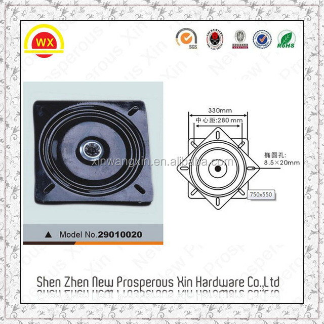 heavy duty grip pattern lazy susan turntable for table