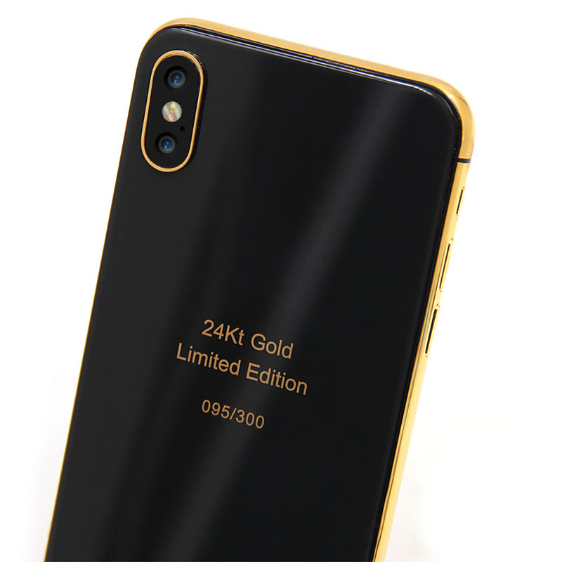 on sale 4d9cf 44f1c Custom 24kt Gold For Iphone X Housing Wireless Charger Black Back Glass -  Buy For Iphone X Housing,For Iphone X Housing Replacement,For Iphone X ...