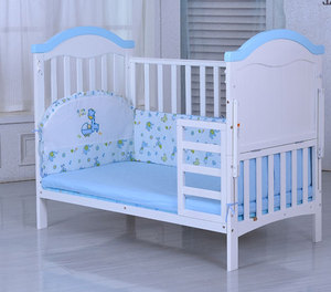 Solid wood multi-function large size game bed rocker pine paint cradle baby bed crib