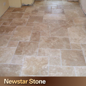 Antique Honed And Filled French Pattern Travertine Tile