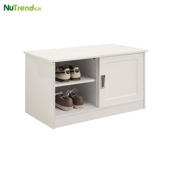 Wooden Shoe Rack Bench Cabinet With Sliding Door Product On Alibaba