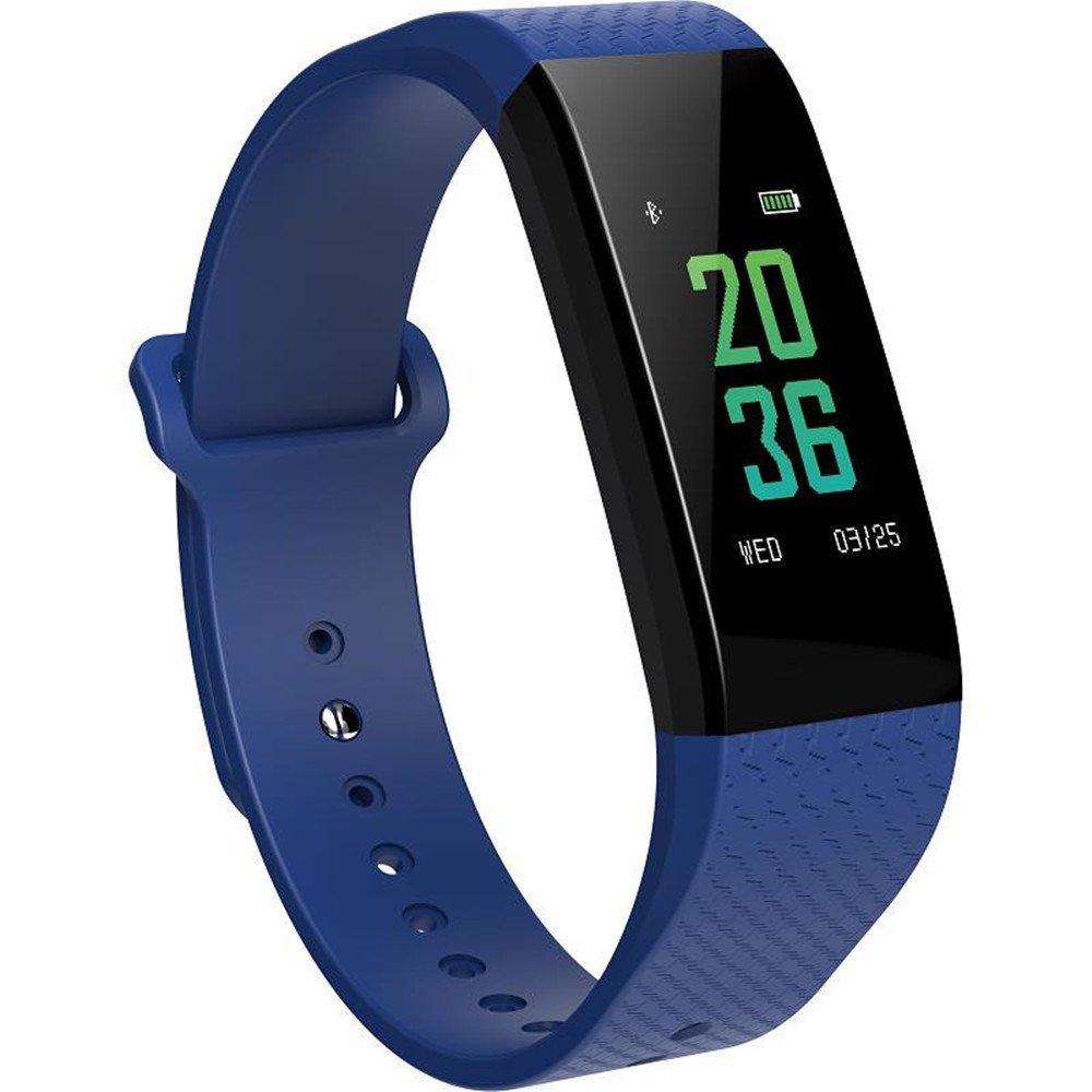 OLSUS Sports Smart Bluetooth Bracelet w/Heart Rate Ecg, Sleep Temperature Test - Blue