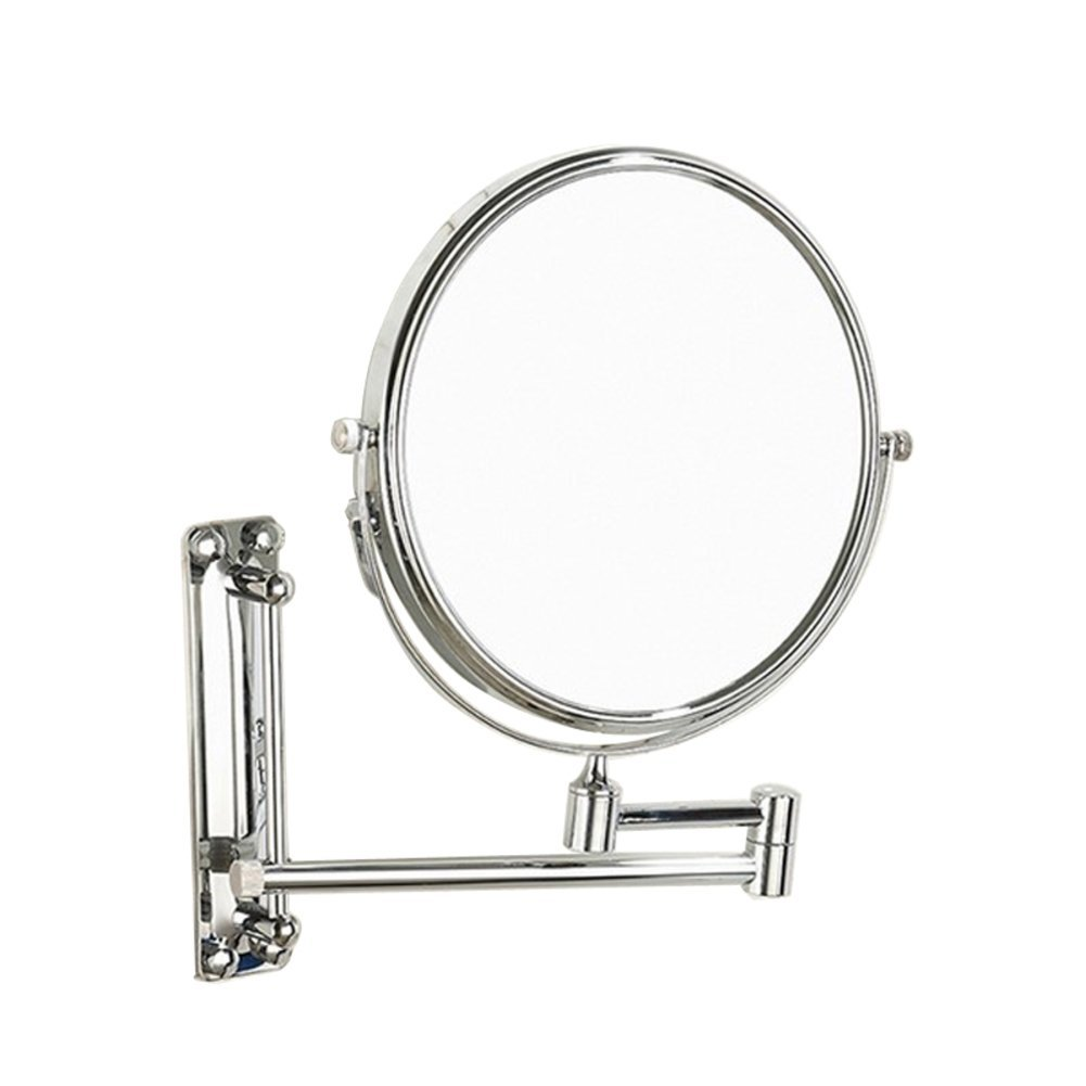 brass telescopic mirror/ vanity mirror/Wall mounted bathroom mirrors on both sides/ bathroom cosmetic mirrors/ folding cosmetic mirror-B