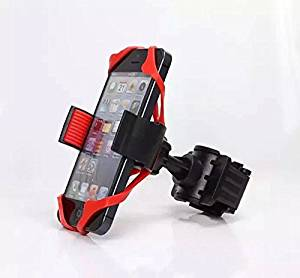 EFORCAR(TM) 2pcs Bike Bicycle Motorcycle Handlebar Mount Holder Phone Holder With Silicone Support Band For Iphone Samsung Gps(Random color)