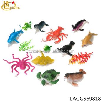 10 Farklı Modelleri Yumuşak Promosyon Renkli Deniz Hayvan Karikatür
