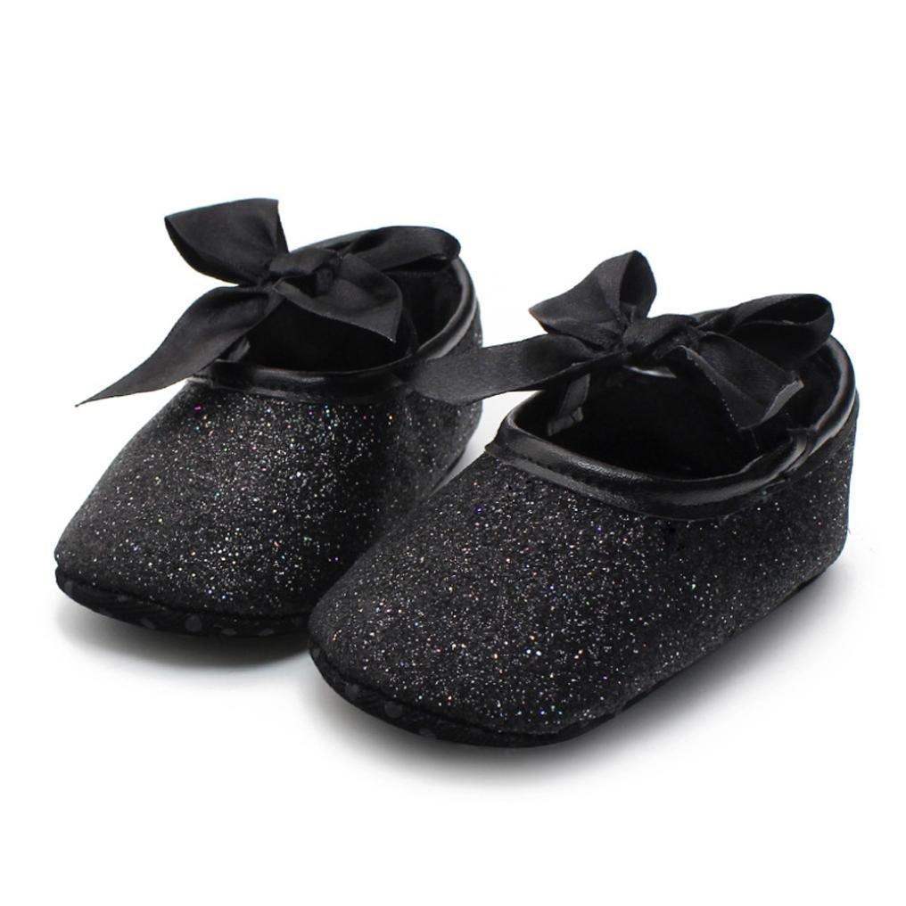 Get Quotations · Ecosin® Baby Girl Soft Sole Bowknot Bling Bling Shoes  Prewalker Socks Sneakers (12  5c7e3b10d20d