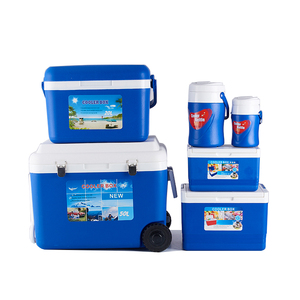 Mini Portable Set Insulated 50L Plastic Ice Cooler Box With Wheels