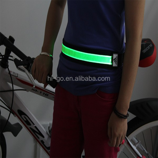 popular mini usb rechargeable led back support belt for biking at night