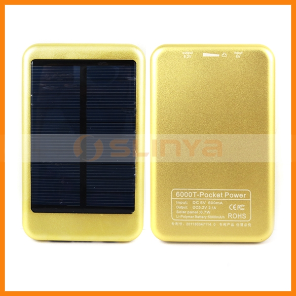0.7W Solar Panel 5000mah External Battery for HTC One
