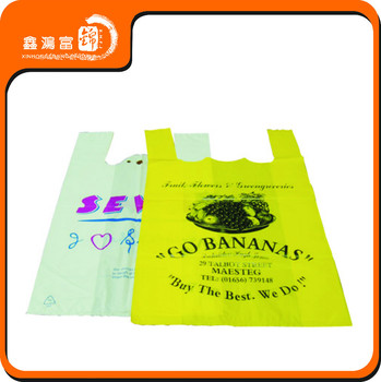 Custom printed t shirt plastic bag buy t shirt plastic for Personalized t shirt bags