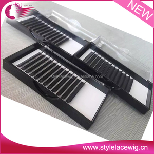 New hot individual siberian mink lashes eyelash extensions wholesale, in B,C,D,J,L curl , 8mm-14mm mix length