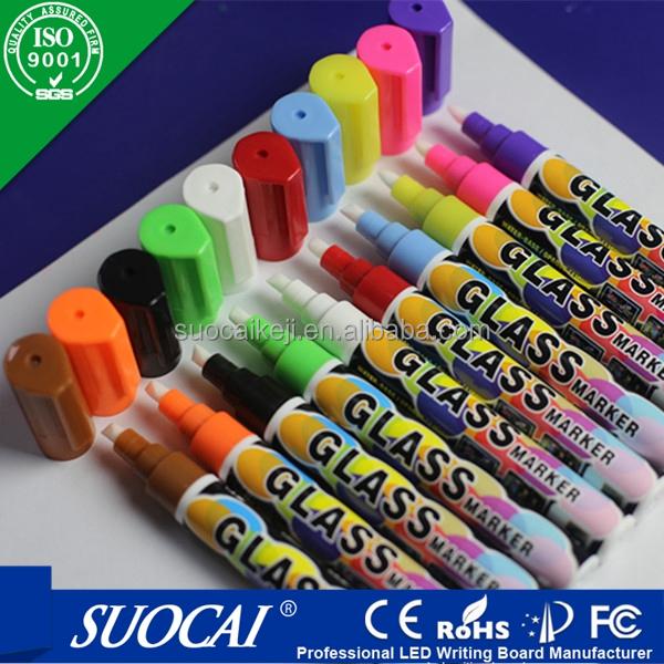 8 kleuren fluorescerende vloeistof krijt markers 6mm markeerstiften product id 60046801443 dutch. Black Bedroom Furniture Sets. Home Design Ideas